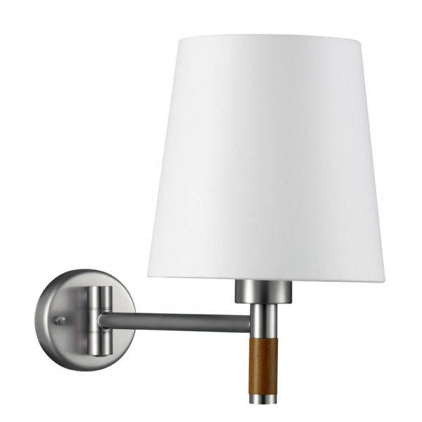 Wandlamp Lignum met zwenkarm