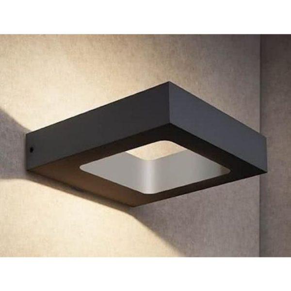 Wandlamp Carre zwart led