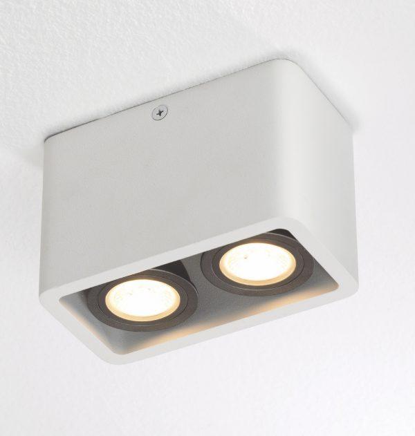 Plafondlamp Bronz 2 wit