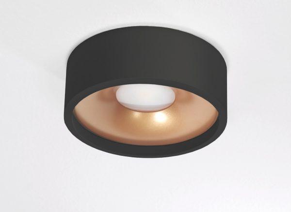 Plafondlamp Orlando Zwart/goud