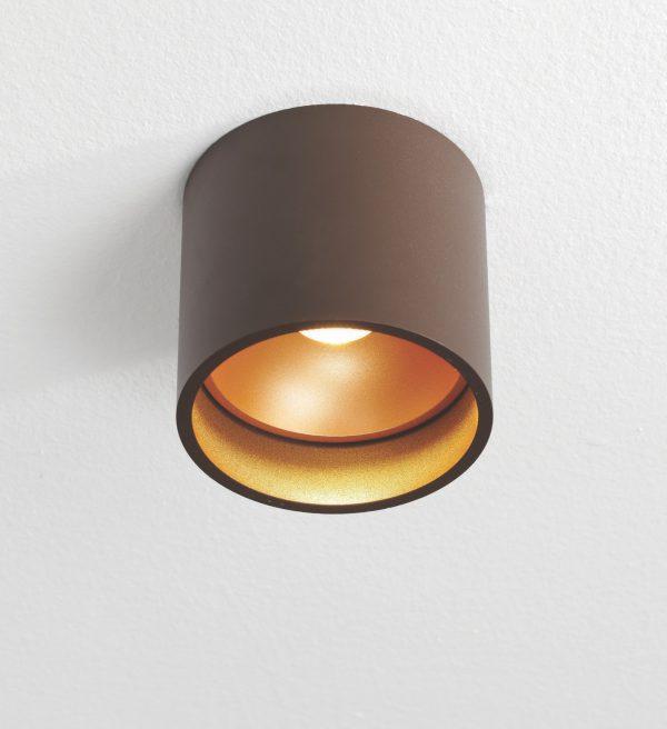 Plafondlamp Orleans bruin/goud