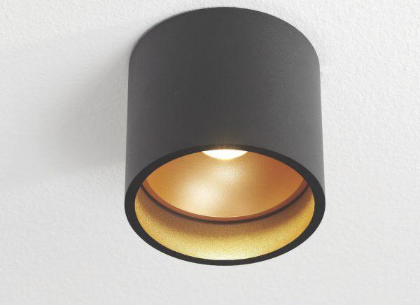 Plafondlamp Orleans zwart/goud