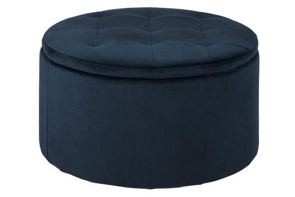 Retina Ottoman Navy Blue 66