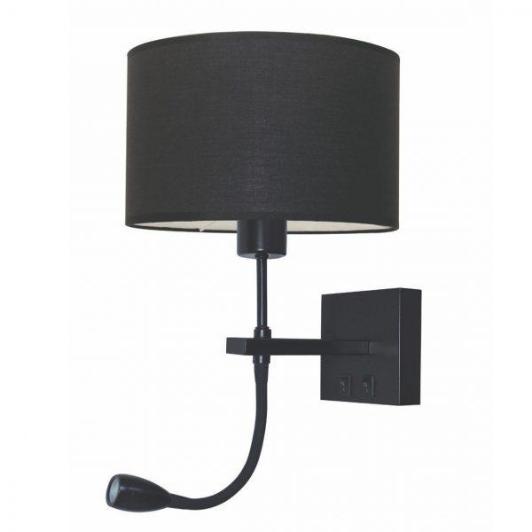 Wandlamp Quad met Lees-ledlamp