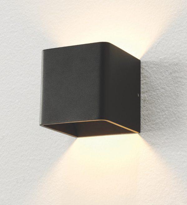 Wandlamp Fulda zwart