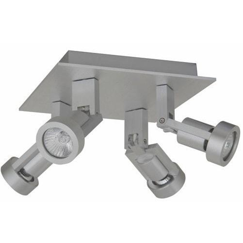 Plafondlamp Tech 4 aluminium