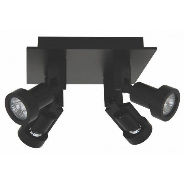 Plafondlamp Tech 4 zwart
