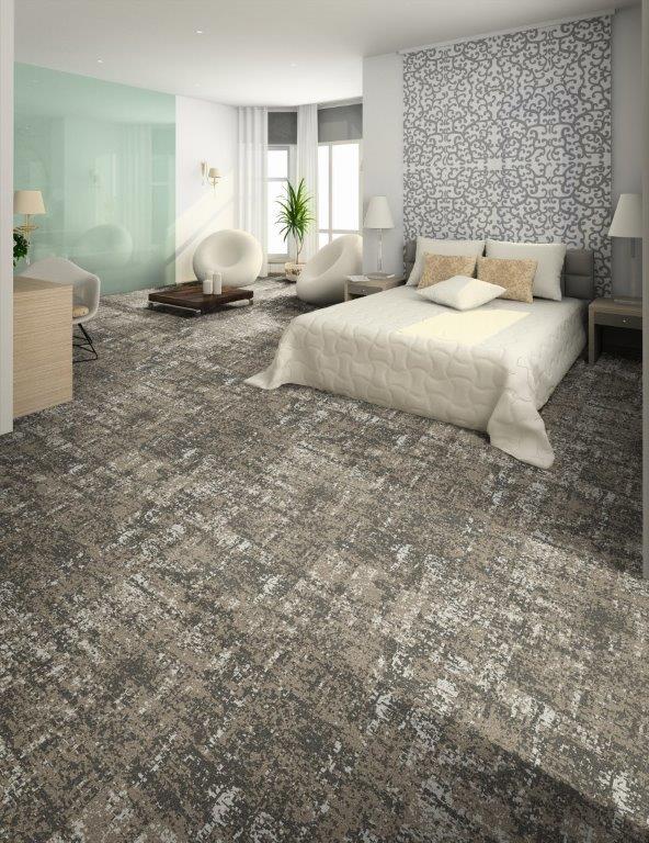 tapijttegels hotelkamer gangen
